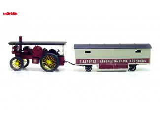 Marklin H0 1887 Dieselmotoren met Kermiswagen H. LINDNER KINEMATOGRAPH NÜRNBERG - Modeltreinshop