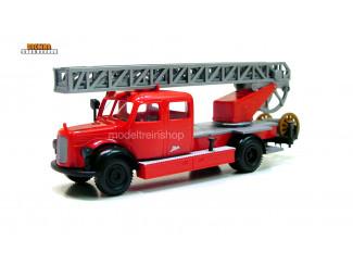 Brekina H0 4030 Mercedes-Benz L311 Doka Metz Drehleiter DL 25 Feuerwehr - Modeltreinshop