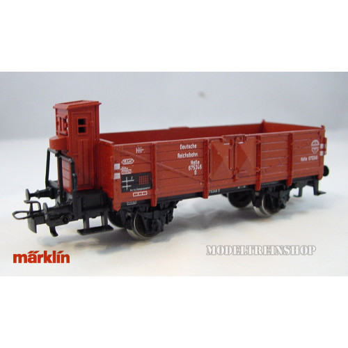 Marklin H0 4696 V1 Open goederenwagen met remhuisje - Modeltreinshop
