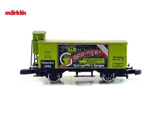 Marklin Z 80005 Gesloten goederenwagen met remhuisje Göppinger Tafelwasser Museum 1994 - Modeltreinshop