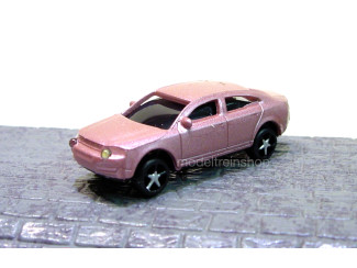 H0 - Auto Donker Rose met Voor- en Achter Led licht - Modeltreinshop