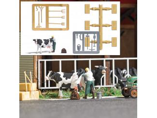 Busch H0 7930 aktie set Inseminatie bij koe - Modeltreinshop