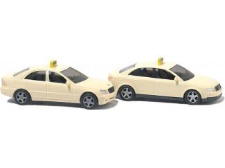 Busch N 8341 2x Taxi Mercedes C-Klasse & Audi A4 Avant - Modeltreinshop