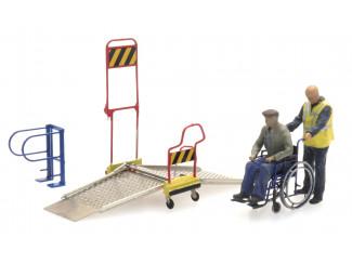 Artitec H0 387.447 Rolstoelbrug met rolstoel en 2 figuren - Modeltreinshop