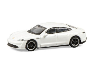 Schuco H0 26558 Porsche Taycan turbo S wit - Modeltreinshop