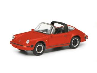 Schuco H0 26564 Porsche 911 3.2 Targa, Rood - Modeltreinshop