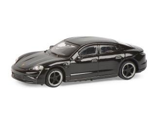 Schuco H0 26559 Porsche Taycan turbo S zwart - Modeltreinshop