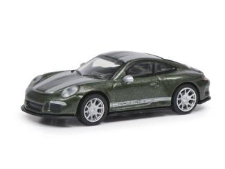 Schuco H0 26601 Porsche 911 R (991) Groen - Modeltreinshop