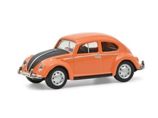 Schuco H0 26628 VW Kever Oranje / zwart - Modeltreinshop