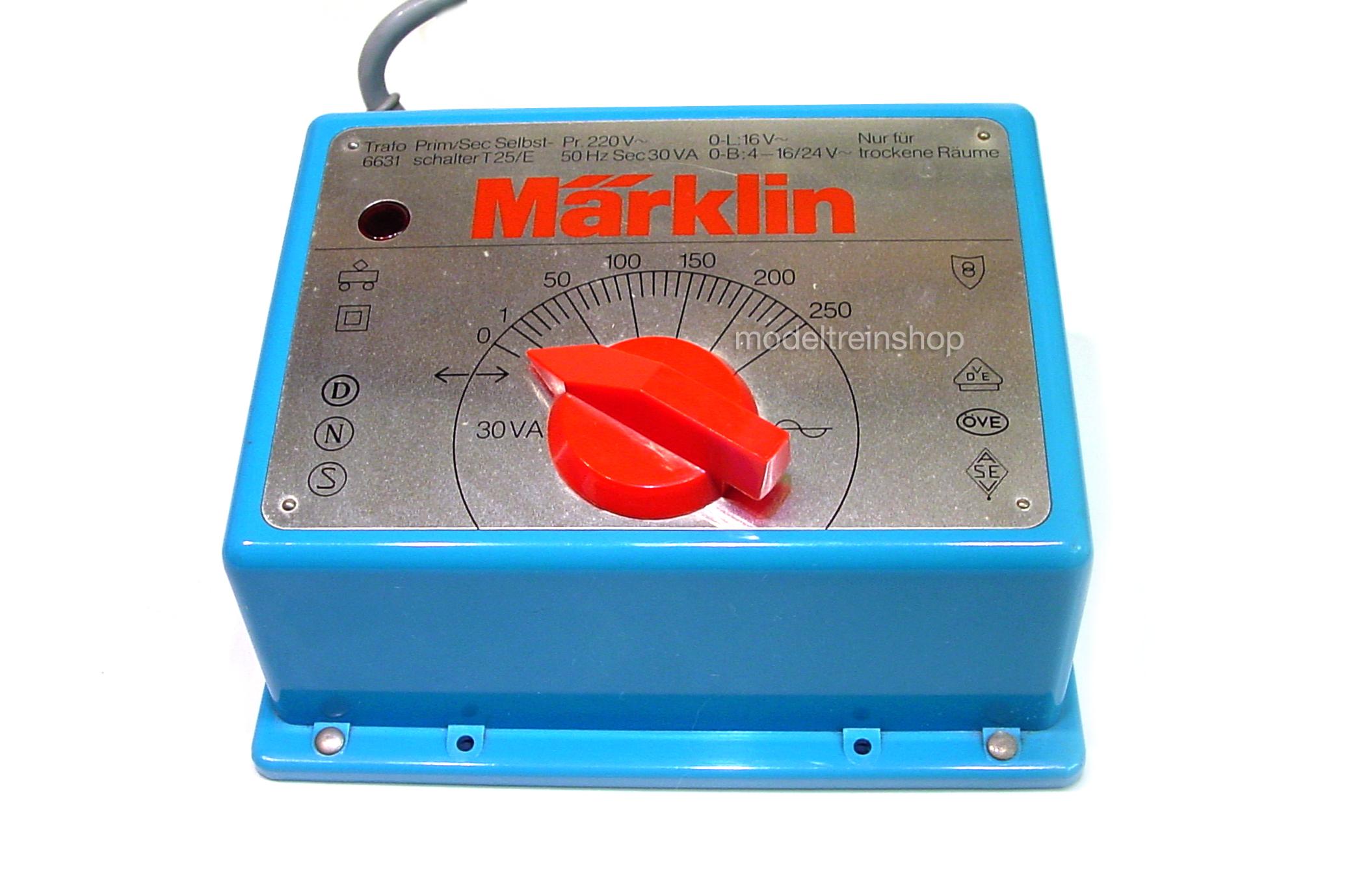 Marklin 6631 Transformator 16volt – 30Va - Modeltreinshop