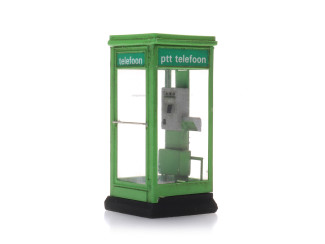 Artitec H0 10.397 Telefooncel 1100 groen jaren 80 - 90 bouwpakket - Modeltreinshop