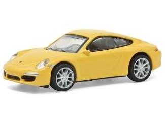 Schuco H0 26599 Porsche 911 (991) Carrera S geel - Modeltreinshop