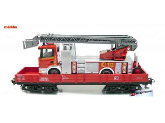 Marklin H0 29752 Ladderwagen op Lageboordwagen Brandweer - Modeltreinshop