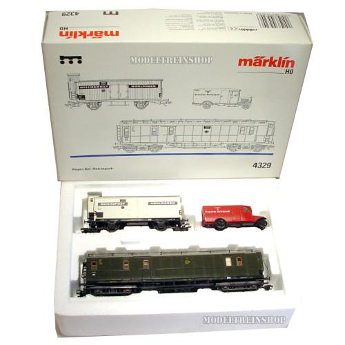 Marklin H0 4329 wagen set Reichspost - Modeltreinshop