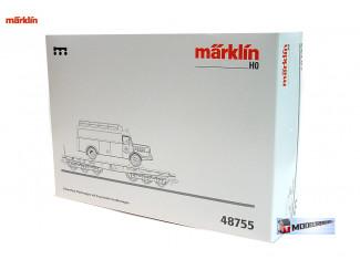 Marklin H0 48755 Platte wagen met brandweer gereedschappenwagen - Modeltreinshop