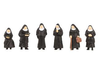 Faller H0 151601 Nonnen 6 stuks - Modeltreinshop