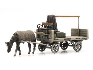 Artitec N 316.079 van Gend & Loos paard en wagen kant en klaar resin, geverfd - Modeltreinshop