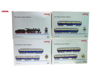 Marklin H0 2881 KPEV Kaiser Wilhem II Lok en 6 rijtuigen - Modeltreinshop