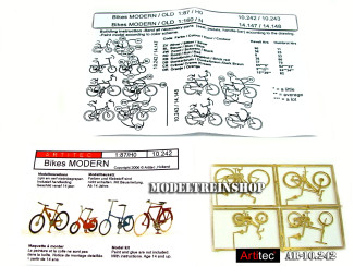 Artitec H0 10.242 Moderne fietsen bouwpakket uit resin, ongeverfd - Modeltreinshop