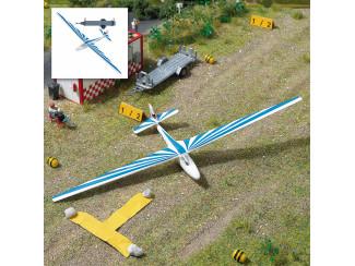 Busch H0 1155 Zweefvliegtuig met aanhanger Blauw - Modeltreinshop
