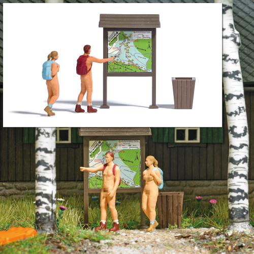 Busch H0 7947 aktie set Naaktlopers Nudisten - Modeltreinshop