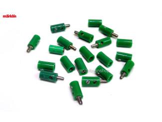 Marklin H0 7133 en 7113 10x stekker met dwarsgat + 10x contrastekker Groen - Modeltreinshop