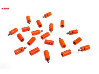Marklin H0 7134 en 7114 10x stekker met dwarsgat + 10x contrastekker Oranje - Modeltreinshop