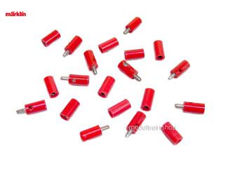 Marklin H0 7135 en 7115 10x stekker met dwarsgat + 10x contrastekker Rood - Modeltreinshop
