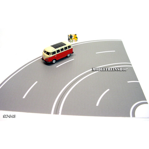 HO Schaal 1:87 - Weg Bocht Grijs SC-043 - Modeltreinshop